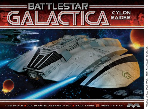 Unbekannt Moebius Maßstab: 1: 32Battlestar Galactica Classic Cylon (Raider Kit (Kit Modell Flugzeug Paint)