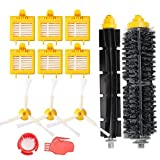 MTKD Kit de 13 Repuestos para iRobot Roomba Serie 700 (700, 760, 770, 780 y 790) - Kit Accesorios de 13 Piezas(Cepillos Lateral, Filtros, Cepillo de Cerda y etc..) para Aspirador Robot.