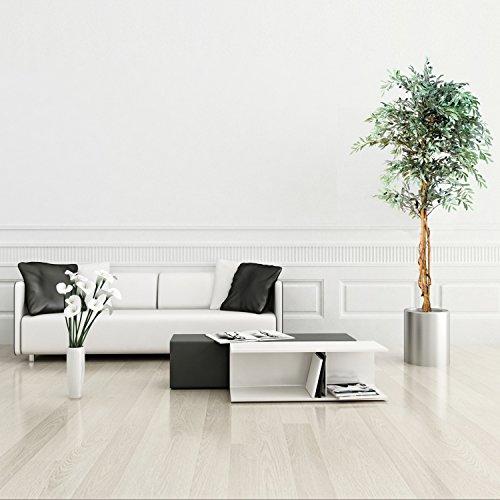 Olivenbaum mit Früchten Echtholzstamm Kunstbaum Kunstpflanze Dekobaum 180cm groß - 3