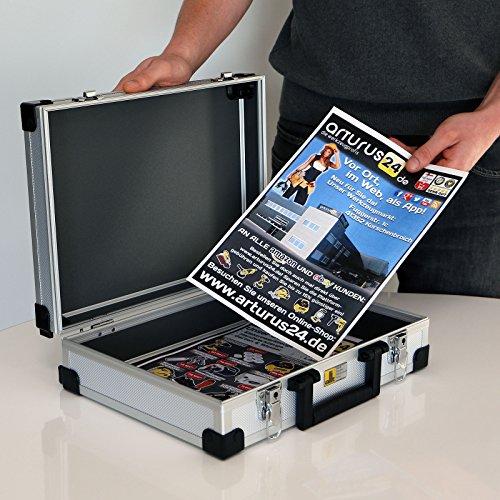 Aluminium Koffer Basic L38 Silber Typ 424150 - 3