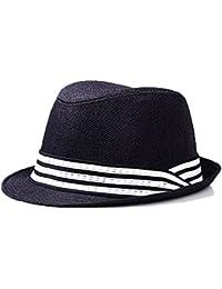 Sombrero Trilby Sombrero de Panamá Hombres Muchacho Paja Verano Sombrero