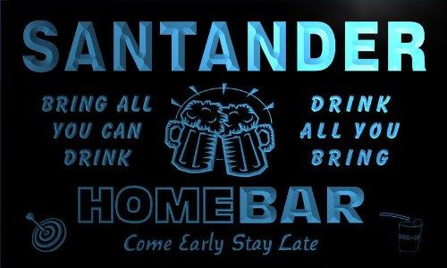 q39287-b-santander-family-name-home-bar-beer-mug-cheers-neon-light-sign