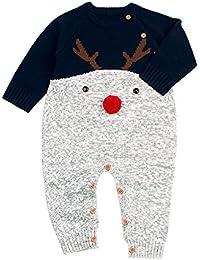 6bd70c484977f Sunenjoy Bébé Garçons Filles Hiver Chaud Tricot Pull Adorable Modèle Elk  Noël Tout-Petits Manches