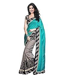 Buyonn Women's Cotton Silk Saree (OFS1594-N6_Multi-Coloured)