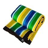 Rete Ombreggiata Addensare Crittografia Protezione Solare Rete Isolante Villa Balcone 8 Poli Bordo Punch GAOFENG (Colore : Colorful Stripe, Dimensioni : 4 * 8m)