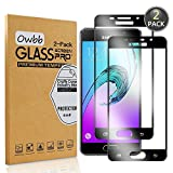Owbb 2 Stück Schwarz Gehärtetes Glas Display schutzfolie Für Samsung Galaxy A3 (2016) A310 4.7zoll Full Coverage Schutz 99% High Transparent Explosionsgeschützter Film