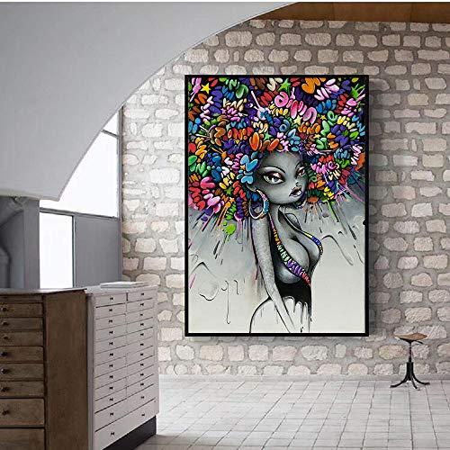 ZJJXM Tableau Impression Toile Image Modern Street Art Wall...