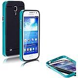 Conie PREMIUM Tasche Hybrid Case - Hülle für Samsung Galaxy S4 Mini in Blau