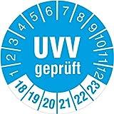 50 Stück UVV geprüft Prüfetiketten / Prüfplaketten Fahrzeugprüfung 30 mm rund 2018-23
