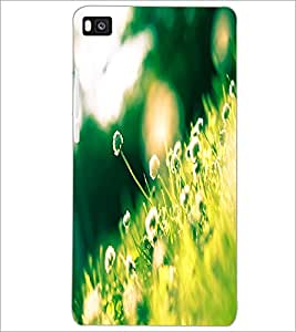 PrintDhaba Flowers D-2302 Back Case Cover for HUAWEI P8 (Multi-Coloured)