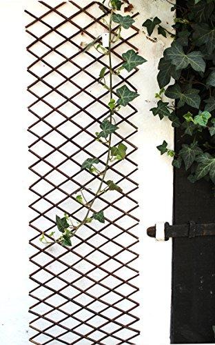 Nostalgic Garden Rankgitter Gartendeko Holz Weidengitter Weidenzaun Deko - F