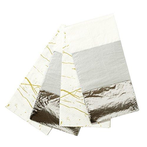 Papierservietten, 2 metallische Muster (Chinese New Year Dekoration Zubehör)
