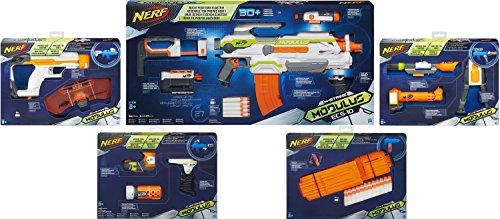 Nerf N-Strike Elite XD Modulus Maximus Kit: ECS-10 Blaster + 4 Zubehör-Sets (Integrierte Nerf Guns)