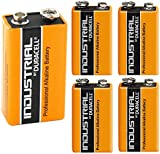 5X Genuine Duracell Industrial 9V PP3 MN1604 Block Alkaline Batteries Replaces Procell Battery Pack of 5