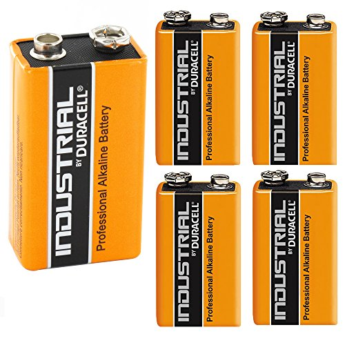Duracell Industrial Alkaline Batterie Block 9V 6LF22, 5 pieces
