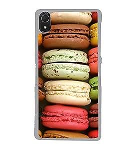 Multi Colour Macarons 2D Hard Polycarbonate Designer Back Case Cover for Sony Xperia Z3 :: Sony Xperia Z3 Dual :: Sony Xperia Z3 D6633