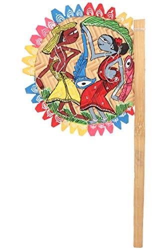 ananth-crafts-hand-painted-tribal-dance-bastoni-di-bambu-ventola-per-decorazioni