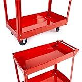 TecTake® 2 Etagen Werkstattwagen Werkzeugwagen Rollwagen Montagewagen Wagen Werkstatt -