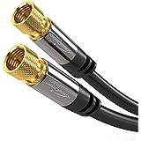KabelDirekt - SAT Kabel - 3m - (F-Stecker, 75 Ohm, F Stecker Koaxialkabel geeignet für TV, HDTV, Radio, DVB-T, DVB-C, DVB-S, DVB-S2) - PRO Series