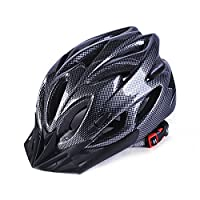 Zantec Cycling Bike Helmet Mountain Bicycle Road Helmet Safety Protection Integrated Molding Breathable Cycling Helmet for Man Woman Carbon Black