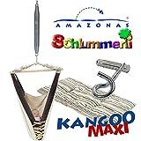 Amazonas Kangoo MAXI Federwiege Babyhängematte mit Inlay Sunny Cacao, Schlummerli-Feder und Deckenhaken