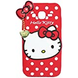 4 Season Cute Designer Hello Kitty Meow Soft Back Cover For SAMSUNG GALAXY GRAND 2 - Red
