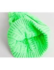 Esquí al aire libre caliente Sombrero de lana de moda verde sombrero de lana