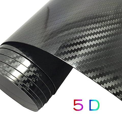 GOGOLO Ultra Brillant 5D imperméable à l'eau autocollant sans adhésif en vinyle autocollant en fibre de carbone Autocollant Autocollants Extérieur et intérieur DIY Décoration 59,8