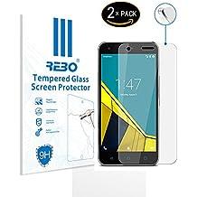 Vodafone Smart Prime 6 Protector cristal templado - RE3O® 2 x Protector de pantalla cristal templado vidrio templado para Vodafone Smart Prime 6 5,0'' pulgadas, Borde redondo elegante 2,5D, Fácil de instalar y sin burbujas de aire, Dureza 9H Anti-choque y Resistencia al desgaste a prueba de rasguños, Alta transparencia, Efecto anti-huella digital perfecto
