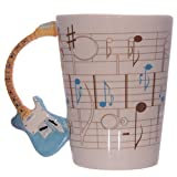 Ted Smith Ceramic Music Guitar Handle Mug Blue Gifts, and, Cards Teacher, School, Gifts Occasion, Gift, Idea