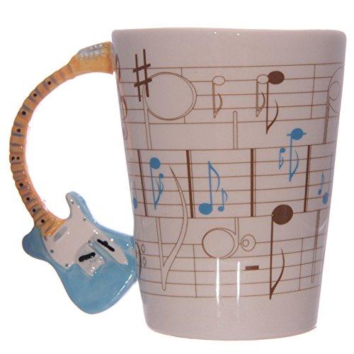 Guitarra eléctrica de cerámica Ted Smith jarra con asa especialmente azul de...