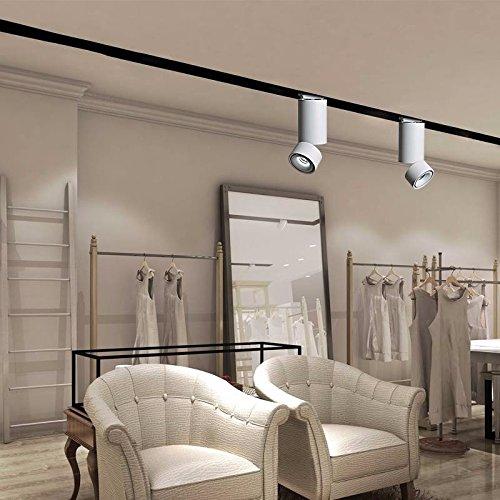 ZHUDJ Avec La Petite Lampe Lampe De Plafond Led Downlight Hall Salon Lampe De Plafond Plafond S/N Voie Light Rail,Type De Piste /10W Lumière Blanc Chaud