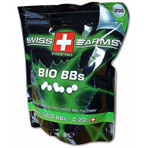 Swiss Arms Softair BBS 0.20 G Bio 5.000 Stück Softairmunition - Balines de plástico para airsoft, talla 6