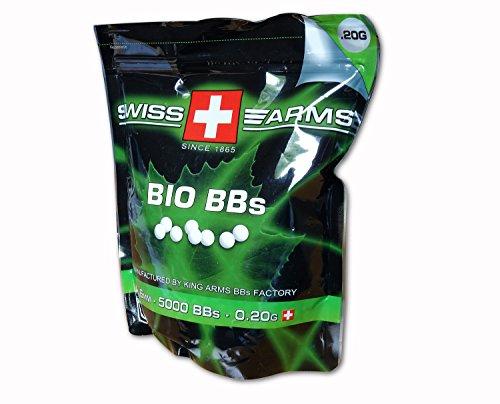 Swiss Arms Billes Bio Blanche 0,2 gr Sac de 1 kg