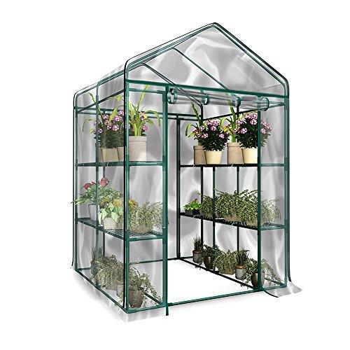 Obst Gemüse Gewächshaus Abdeckung, PVC Garten Pflanzen Warmhouse mit klarer Abdeckung für den...