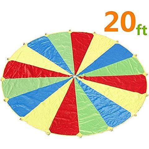 Paracaídas, sonyabecca Play paracaídas 20m con 16asas para niños cooperación grupo Play