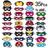 Yidaxing 35 Pezzi Nuova Edizione Maschere di Supereroi, Maschera per Bambini, Supereroe per Feste, Supereroi Maschere Cosplay per Festa, Mascherata, Halloween per Bambini, Adatta a Ragazzi e Ragazze