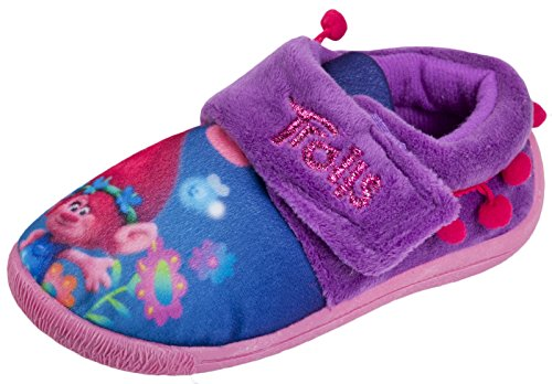 Officially Licensed Trolls Girls Low Top Slippers Lilac Various Sizes