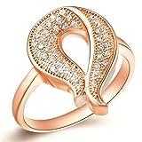 Daesar Versilbert Damen Ring Silber Verlobungsring Antik Ring Cocktail Ring mit Stein Größe:52 (16.6)