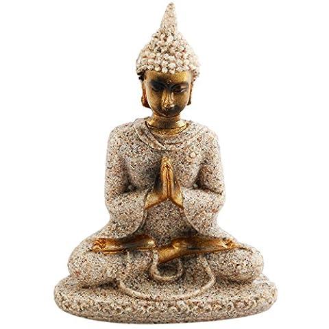 Shanxing Grès de méditation Statue de Bouddha Sculpture figurine sculpté