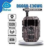 Bolyguard 4G GPS 36MP 1080P Caméra de Chasse de Vision Nocturne Activé Cloud Drive 2 Chasse et Affichage GPRS MMS Détection de Disque de Nuage de 100ft / 30m Imperméable