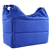 Shockproof Storage Bag Adjustable Insert Interior Slots Travel Carrying Case Protective Cover with Drawstring Design for Sony Canon Nikon Olympus Pentax DSLR SLR Cameras Blue