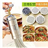 KITCHY Stainless Steel Noodle Maker Pasta Noodle Machine Handmade 5 Mode Noodles Press Spaghetti Machine Para Hacer Noodles Fruit Press