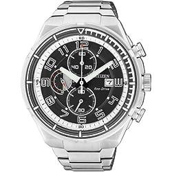 Citizen Herren-Armbanduhr XL Chronograph Quarz Edelstahl CA0490-52E