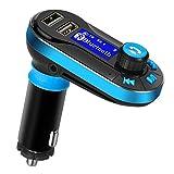 Flycoo Flycoo Kit per auto Bluetooth Lettore MP3 Trasmettitore Trasmettitori FM Kit vivavoce per auto Maxi caricabatteria da auto Supporto per scheda SD / USB
