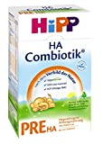 Hipp Pre HA Combiotik, Hypoallergene Anfangsmilch - von Geburt an, 2er Pack (2 x 500g)