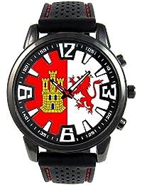 Caseres España Reloj para hombre con correa de silicona