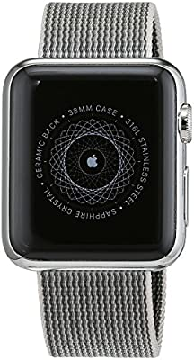 Apple Watch 38 mm (1ª Generación) - Smartwatch iOS con caja de acero inoxidable en plata (pantalla 1.32
