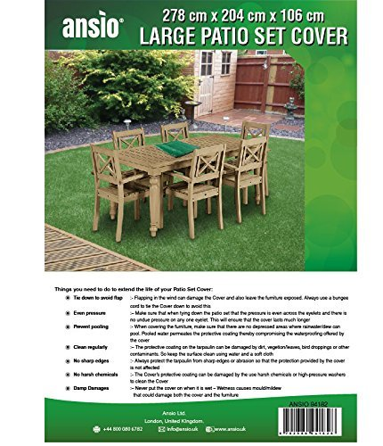 Large Patio Set Cover Outdoor Garden Furniture Cover / Patio Cover Size 2.8  M X 2.04 M X 1.06 M ...