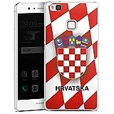 DeinDesign Huawei P9 Lite (2016) Hülle Case Handyhülle Kroatien Em Trikot Football Fussball